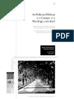 As Políticas Públicas e o Campo e o Psicólogo Com Isso