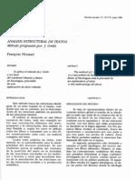Analisis Estructural de Textos