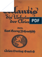 Atlantis die Urheimat der Arier / Karl Georg Zschaetzsch / 1922