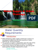 Water Supply & Urban Drainage
