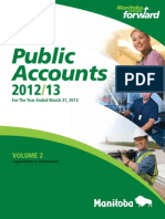 Public Accounts Manitoba 2012/13 For The Year Ended March 31, 2013