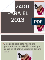 Calzado Para El 2013