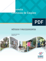 Métodos y Procedimientos de La Encuesta Continua de Empleo