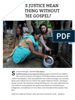 2014-03-24 Does justice mean anything without the gospel? | Convergence Magazine