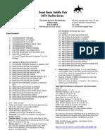 2014 Buckle Series Class List