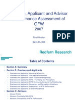 GFW Grantee Applicant and Advisor Survey Results Consolidated Final Version March 4