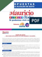 Propuesta de Gobierno del nuevo Alcalde del Distrito Metropolitano de Quito, Mauricio Rodas