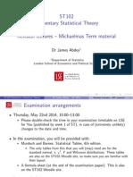 ST102 Michaelmas Term Revision LSE London School of Economics