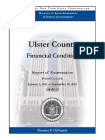 Ulster County Audit by New York State Comptroller's Office