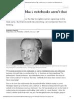 Heidegger's Black Notebooks Aren't That Surprising