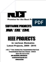 Java Project Titles, IEEE 2009, Etc., Year 2009 - 2010