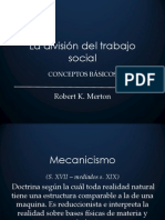 La División Del Trabajo Social de Durkheim