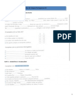 Teste de Língua Portuguesa Língua Não Materna A1 (Teste 1)