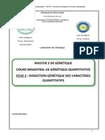m2-Gene_génétique Quantitative-dissection Génétique Des Caractères Quantitatifs