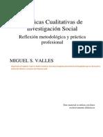 Valles Técnicas Cualitativas de La Investigación Social.