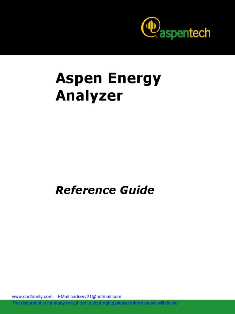 Aspen Energy Analyzer Reference Guide v7 | Technical Support
