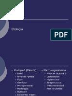 Etiologia Caries