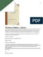 The Story of Mattie J. Jackson