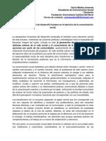 Aplicación Del Concepto de Desarrollo Humano en El Ejercicio de La Comunicación Social