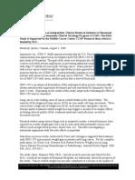 Pressrelease_lung Cancer Study NCI