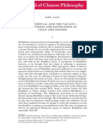 Journal of Chinese Philosophy Volume 37 Issue 3 2010 [Doi 10.1111%2fj.1540-6253.2010.01596.x] Barry Allen -- The Virtual and the Vacant—Emptiness and Knowledge in Chan and Daoism