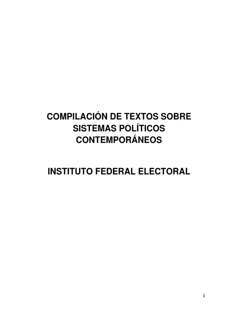 Compilación Sistemas Políticos