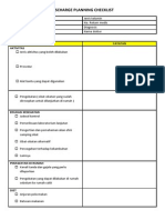 Discharge Planning Checklist