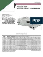 1038 Tdd Gd 100t Continuous Duty Pump Brochure Data Sheet