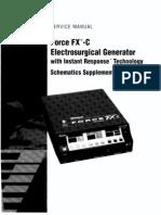 Valleylab Force FX-C Schematics Supplement