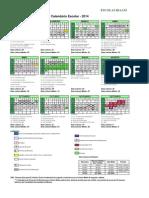Calendário Escolar - Escolas IDAAM
