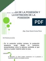 Derechos Reales. Clase 6. Defensa y Extincion de La Posesión