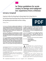 Verification of the Tokyo Guidelines for Acute Cholangitis Secondary to Benign and Malignant Biliary Obstruction%3A Experience From a Chinese Tertiary Hospital