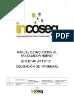 Manual de Induccion Al Trabajador Nuevo