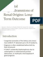 Antenatal Oligohidramnions of Renal Origins