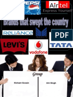 BRANDS THAT SWEPT THE COUNTRY