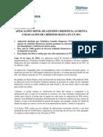 NP_APLICACIÓN MÓVIL DE GESTIÓN CREDITICIA AUMENTA COLOCACIÓN DE CRÉDITOS HASTA EN UN 30%_VF