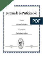 Certificado de Participacion