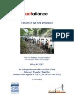 ACT Alliance Haiti Evaluation 2012