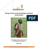 Giving a Voice to Ivorian Refugees and Host Communities