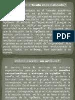 Diapositivas Artículo