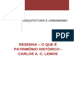 O Que é Patrimônio Histórico - Resenha
