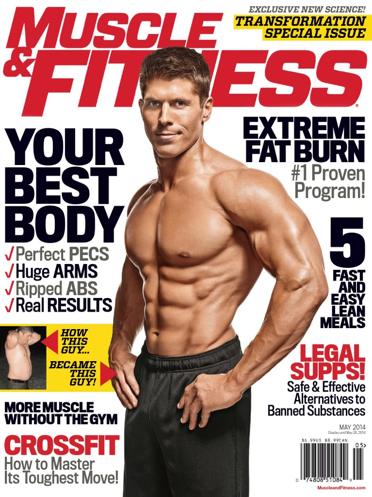Muscle Fitness May 2014 Usa Growth Hormone Physical Tear Your Core Inside Out With The Superset Circuit Abs Workout