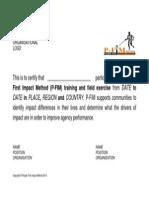 Annexe 4 Participation Certificate