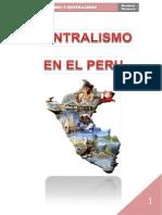 Centralismo y Regionalismo en El Peru