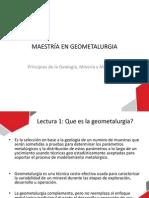 Maestría en Geometalurgia -LECTURAS