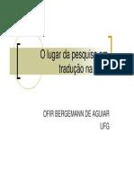 6- O Lugar Da Pesquisa Em Tradução Na UFG