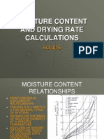 MOISTURE CONTENT AND DRYING RATE CALCULATIONS