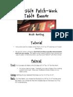 Reversible Table Runner Pdf