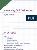 Preventing OOS Deficiencies