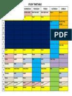 Sample Study Timetable